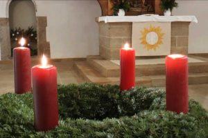 Adventskranz in der St. Johanniskirche Plauen/V.